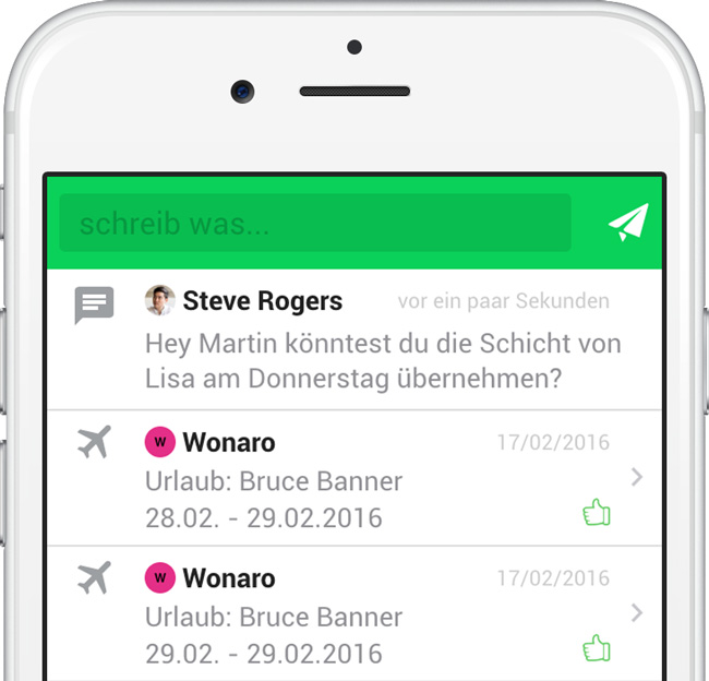 mobile Dienstplanung
